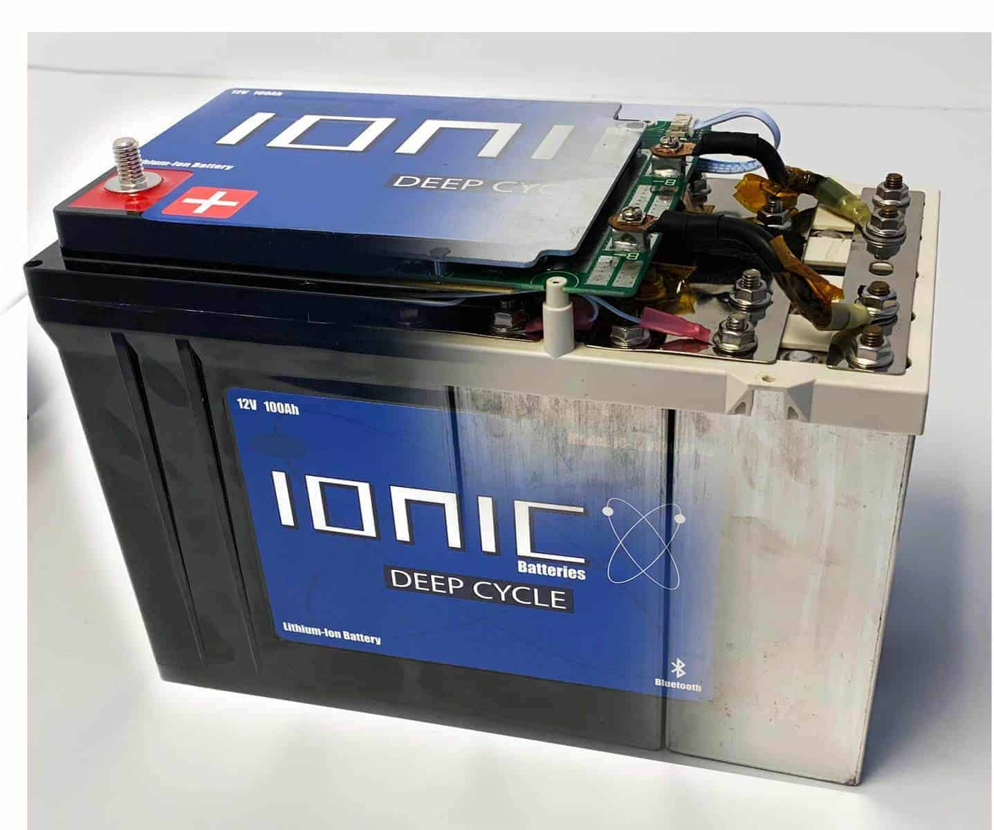 battery 100ah volt together lithium cycle deep