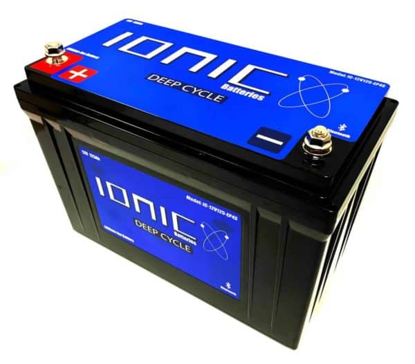 Ionic Lithium Battery - 12V 125Ah LiFePO4 Deep Cycle Battery