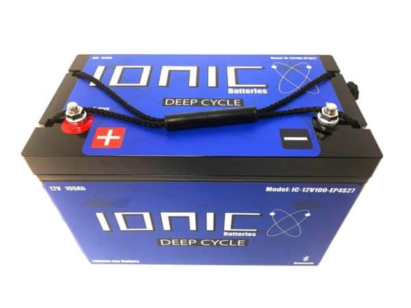 Ionic Lithium Deep Cycle 12 Volt 100Ah Group 27 Battery