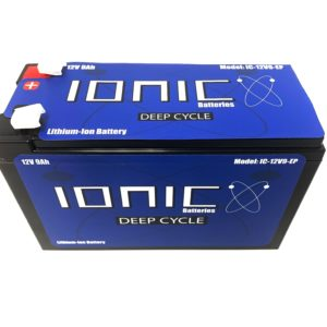 Ionic Lithium Battery - 12V 9Ah LiFePO4 Deep Cycle Battery