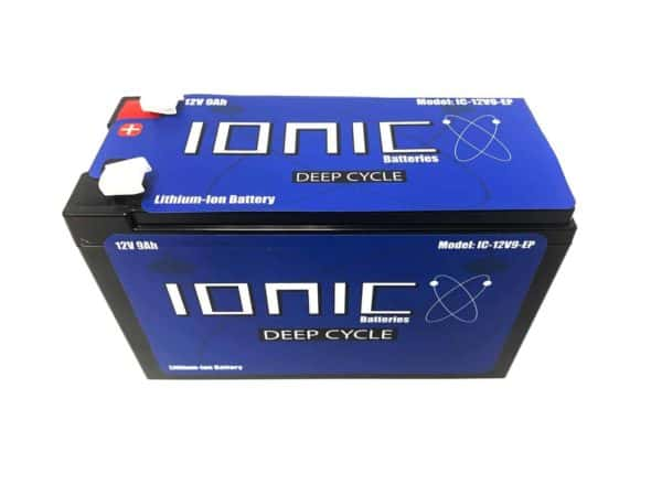 Ionic 12v 9Ah Lithium Battery