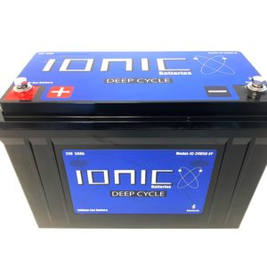 Ionic Lithium Battery - 24V 50Ah LiFePO4 Deep Cycle Battery