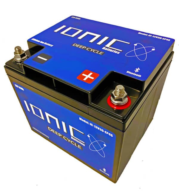 Ionic Lithium Battery - 12V 30Ah LiFePO4 Deep Cycle Battery