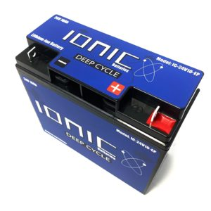 Ionic Lithium Battery - 24V 10Ah LiFePO4 Deep Cycle Battery