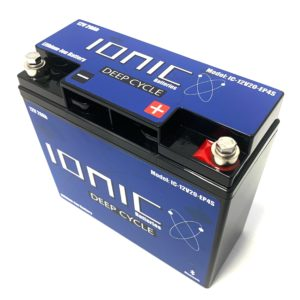 Ionic Lithium Battery - 12V 20Ah LiFePO4 Deep Cycle Battery