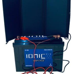 20 watt solar panel 100ah lithium battery