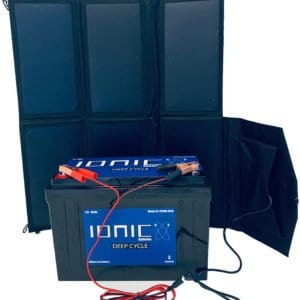 40w solar panel 100ah lithium battery