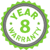 8 Year Limited Warranty