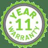 11 Year Limited Warranty
